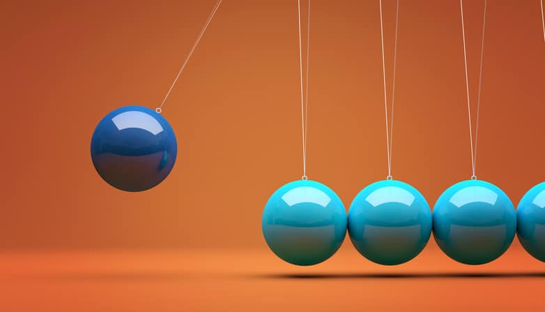 CCA interventions image: newton's cradle